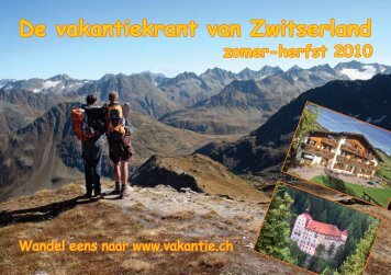De vakantiekrant van Zwitserland zomer-herfst 2010 - Clarezia
