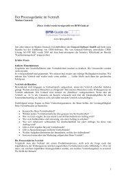 Der Prozessgedanke im Vertrieb - Org-Portal.org