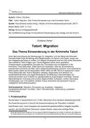Tatort: Migration - Mediaculture online