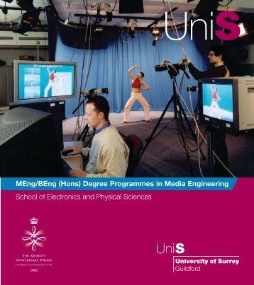 MEng/BEng (Hons) Degree Programmes in Media Engineering ...