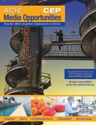 Media Opportunities - American Institute of Chemical Engineers