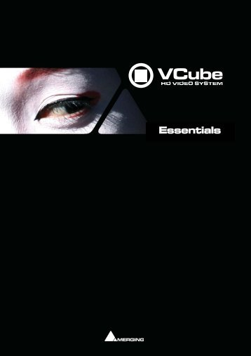 VCube Essentials Guide - Merging Technologies