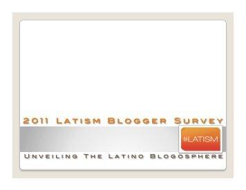 LATISM BlogoSphere Survey 2011