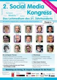 2. Social Media Kongress - Management Forum der Verlagsgruppe ...