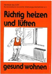 Richtig heizen und lüften (Merkblatt des GdW) - Joas Fenster