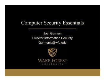 Computer Security Essentials Class Presentation - Information ...