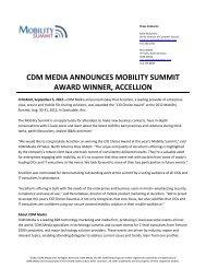 cdm media announces mobility summit award winner, accellion