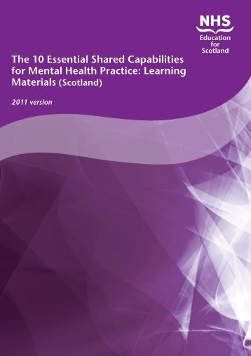 The 10 Essential Shared Capabilities for Mental Health Practice ...