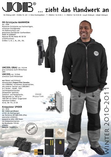 Katalogvorlage Aktionsprospekte - Job-Kleidung GmbH