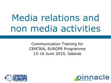 Media relations and non media activities - Central Europe