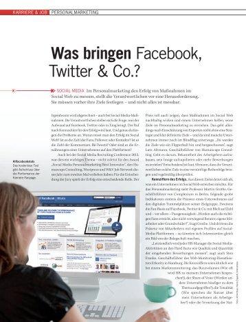 Was bringen Facebook, twitter & Co.? - Ethority
