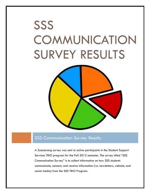 SSS Communication Survey Results pdf - Napa Valley College