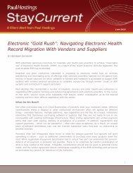 """Gold Rush"": Navigating Electronic Health Record ... - Paul Hastings"