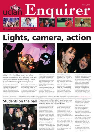 Lights, camera, action - University of Central Lancashire