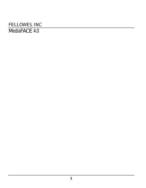 Mediaface 4 User S Guide Neato