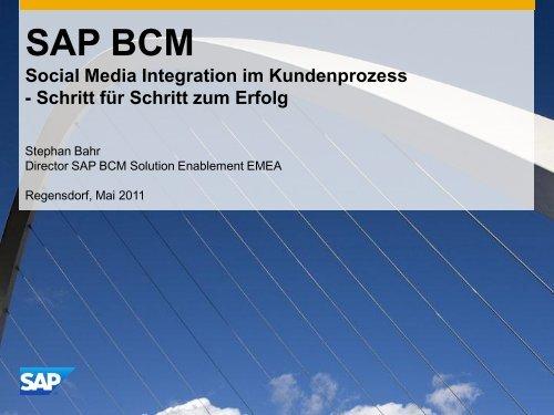 SAP BCM Social Media Integration im Kundenprozess - Schritt für ...