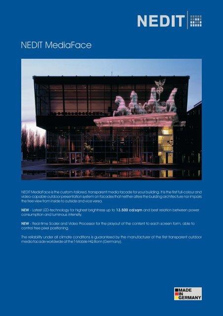 NEDIT MediaFace fact sheet 10V01 (en)