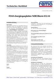 FEMA-Energiesparplatten NEROtherm 032-M - FEMA Farben + ...