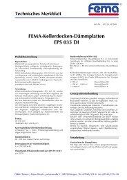 FEMA-Kellerdecken-Dämmplatten EPS 035 DI - FEMA Farben + ...