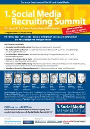 Das Programm 1. Social Media Recruiting Summit - Competitive ...