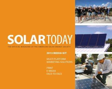 download the media kit - American Solar Energy Society