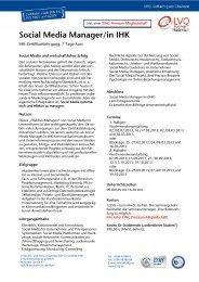 Social Media Manager/in IHK - Social Media Seminar