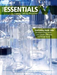 The Essentials of Sample Collection and ... - VWR International