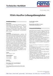 FEMA-MaxiPor-Leibungsdämmplatten - FEMA Farben + Putze GmbH
