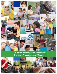 MDE Parent Engagement Toolkit - State of Michigan