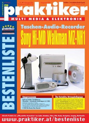Sony Hi-MD Walkman MZ-NH1: Taschen-Audio ... - praktiker.at