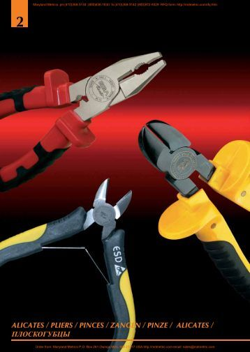 2 alicates / pliers / pinces / zangen / pinze ... - Maryland Metrics