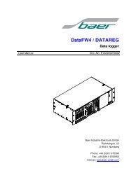 DataFW4 / DATAREG - baer-gmbh.com