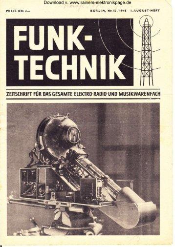 Heft 15 - Rainers - Elektronikpage