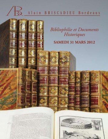 Bibliophilie et Documents Historiques - Briscadieu Bordeaux