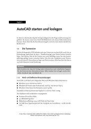 AutoCAD starten und loslegen - Mitp