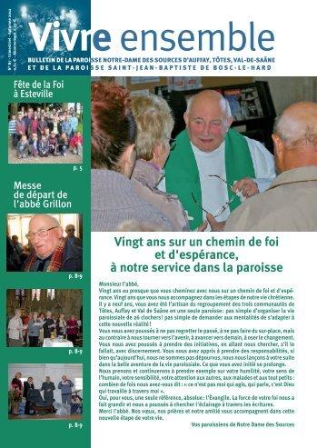 Vivre Ensemble - Automne 2012 - format pdf - Paroisse St-Jean ...