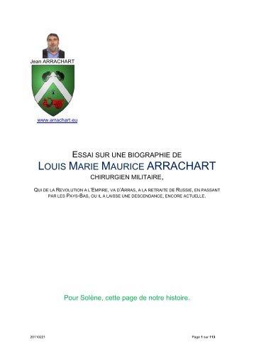 LOUIS MARIE MAURICE ARRACHART - Le site du mois