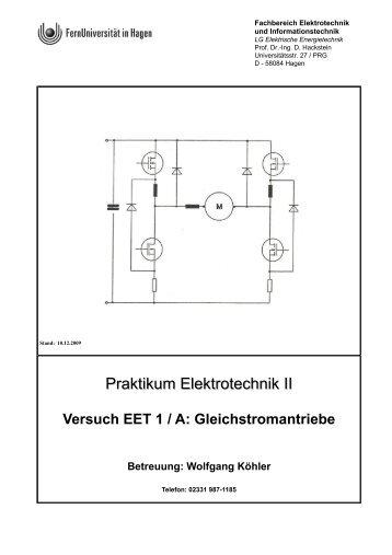 Praktikum Elektrotechnik II - FernUniversität in Hagen