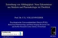 Dr. med. Vollenweider - Biologie der Sucht