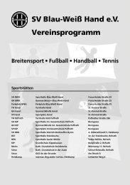 Vereinsprogramm SV Blau-Weiß Hand e.V.