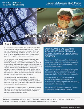 Medical Device Engineering - Master of Advanced Study Degree ...