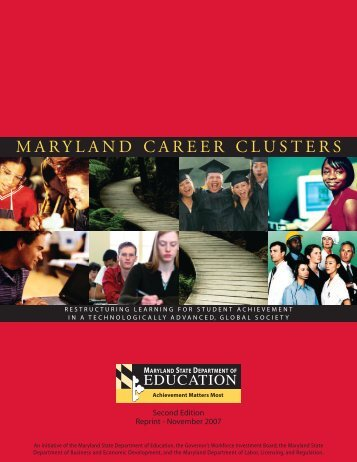 maryland career clusters - Maryland State Department of Education