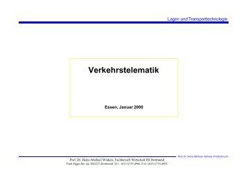 Verkehrstelematik - Prof. Dr. Heinz-Michael Winkels