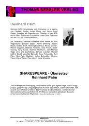 Übersetzer Reinhard Palm - THOMAS SESSLER - Verlag