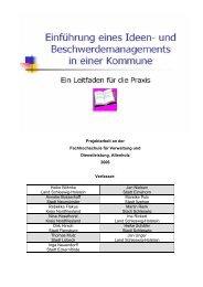 Leitfaden - Dokumentation der Verwaltungsmodernisierung in ...