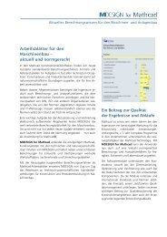 Broschüre MDESIGN for Mathcad