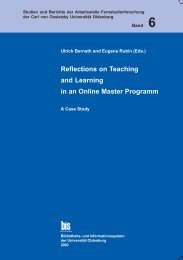 Reflections on Teaching and Learning in an Online Master Program