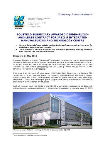 Boustead Subsidiary Awarded Design-Build ... - Boustead Projects