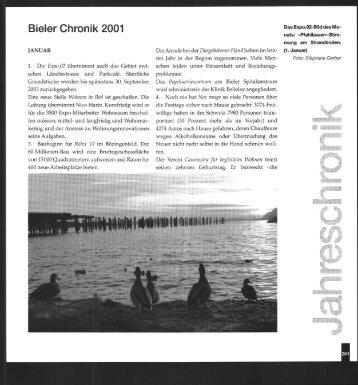 Bieler Chronik, 2001 (pdf, 59.7MB) - Stadtbibliothek Biel