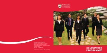 Coursework Programmes - Admissions - Nanyang Technological ...